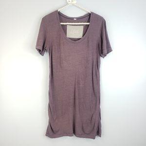 Lululemon Heathered Purple Tshirt Dress/Top